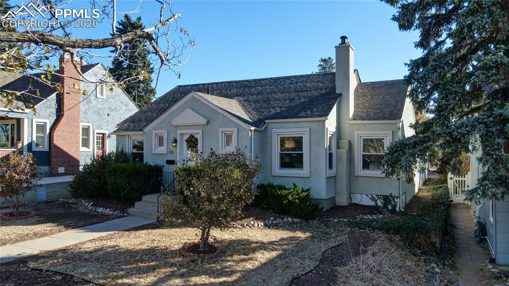 Downtown charm at it's best.  Just steps away from Memorial park w/ Pikes Peak views.  Main level features hardwood floors, custom gas fireplace, original built-ins and archways, updated lighting, vintage door knobs throughout & step down large family room w/ new carpet (2020).  Custom remodeled kitchen (2020) features corian countertops, white subway tile backsplash, new painted cabinets w/ hardware, and stainless steel appliances.  Large master suite w/ attached 3/4 bath.  Basement provides bonus room, plenty of storage, and additional remodeled bathroom (2020).  Brand new furnace (2020), Attached oversized 2 car garage.  New fencing (2020), new whole house attic fan (2020), new LED lighting, nest doorbell and camera, nest thermostat, etc... Foundation repair in 2015.  Main Sewer line replacement.  Very rare & valuable Detached Studio Shed in the back w/ electrical makes a perfect office!  Professional landscaping with fire pit area, large patio, and mature trees.  Back alley is paved and clean.