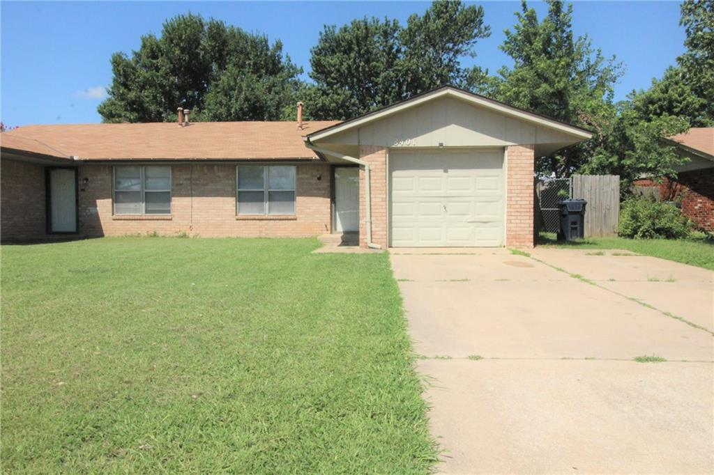 Spacious and Cozy two bedroom, one bath duplex located southwest of Oklahoma City. This duplex has been completely remodeled! This is definitely a great location or starter home for anybody!!! This unit is minutes from OCCC and I-240!! Security deposit is equivalent to one month rent. Application fee required. Pet friendly with a non refundable pet fee per pet. For additional information or to arrange an appointment to tour the home call today!