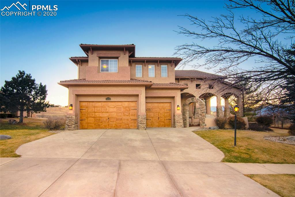 ONE-OF-A-KIND FULLY REMODELED SPANISH STYLE!!  5BD, 4BA, 3-Car Garage, Nearly 4,300sqft of Finished Living Area & .27 Acres * Grand Entry w/ Stone Archways, Water Fountain and Expanded Covered Patio * Main Level Features 20 ft. Ceilings, Large Great room w/ TV Room and Media Center, Stone Accents & Decorative Alcoves, Raised Formal Dining Area w/ Built-in Cabinetry, Wine Rack & See-Through Gas Fireplace, Reading Area, Kitchen Nook and Office w/ French Doors * Your Custom Kitchen Offers Italian Slab Granite Countertops... Stone Backsplash, Gourmet SLATE Appliances, Large Center Island w/ Cook-top and Walk-in Pantry * Upstairs Features 3 Bedrooms and Laundry Room * Master Suite is One-of-a-kind!!! * Over 700sqft of Exquisite Privacy, Including a Large Retreat, Luxury Bathroom w/ Natural Ash Porcelain Tile Flooring, Granite Counters, Walk-in Glass Block Shower w/ Stone Tile Surround, Cobblestone Flooring and Dual Shower Heads (Rain Shower), See-Through Gas Fireplace, Jumbo Size Jacuzzi Jet Tub, Walk-in Closet, Linen Closet and Walks-out to your very own Private 16x8 Covered Patio overlooking Open-Space, Golf Course & Mountain Views * The Basement Features 2 Large Bedrooms, Full Wrap-Around Wet Bar, Stone Accented Media Center w/ Pre-Wired Surround Sound, Gas Fireplace and Storage Area * Backyard Offers 25 x 8 Covered Deck, Sunken 6-Person Hot-tub, Built-in Master Gas Grill Area, Gas Fire-pit, Water Fall Feature and Stamped Concrete Entertainment Area -- over seventy thousand in Professional Landscaping * Extras Include: Textured Walls in Garage w/ Epoxy Flooring & Work Shop Area, Tile Roof, Central Air Conditioning, Humidifier, Security System, Invisible Dog Fence, Brink Planters & Drip System, Extended Arch-top Front Patio and Backs to Open Space for Full Privacy!