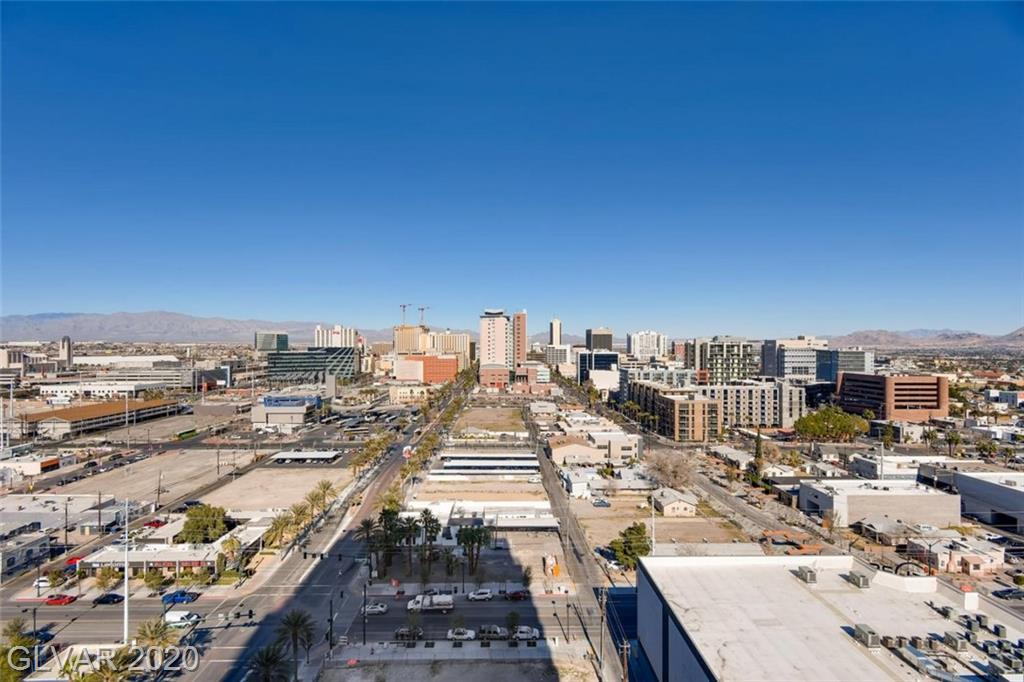 Gorgeous high rise loft in downtown Las Vegas! Modern industrial finishes in an open concept space w/ floor to ceiling views of downtown LV & the mountains. New tile floors, custom closet built-ins, and Alexa enabled lights & thermostat. Building has a sparkling community rooftop pool & spa w/ amazing Strip views, community theater/recreation room, state of the art fitness center, outdoor rooftop track, and 24 hr access control.