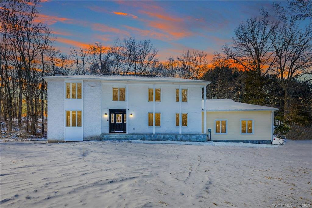 This center hall colonial features over 4500 square feet of living space on 3 levels with 4 fireplaces accompanied by a 3 car garage. The home is situated on 3 flat acres of land down a long driveway with abundant privacy and natural beauty. The opportunity to have the kitchen of your dreams with an immense open layout, over sized island and high end Stainless steel appliances. The laundry room and two half baths round out the first floor. The primary suite features his and hers closets,  fireplace and bath with walk-in shower. Both 2nd floor baths feature double vanities. Beautiful second level balcony off of the office is a scenic space for today's work from home lifestyle. Other features include brand new hardwood flooring throughout the entire home, brand new baths, new paint, new lighting. Property is conveniently located 3 minutes from Easton village center and Silverman's farm and 8 minutes to the Merritt parkway. Call today to schedule a showing and begin to enjoy all that the beautiful town of Easton has to offer.