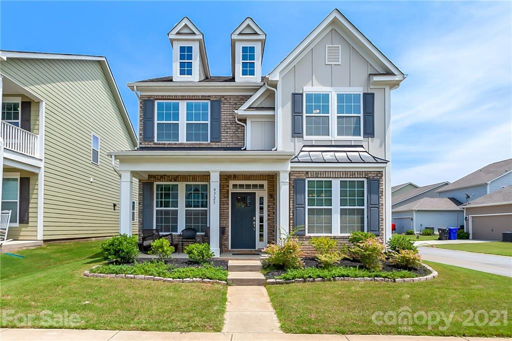 Beautiful home on corner lot with fenced yard, hardwoods on main and open floor plan. Crown molding throughout main level. Kitchen features white cabinets, subway tile, granite counter tops, butlers pantry, stainless appliances, breakfast bar and white farmhouse sink. Kitchen opens to living room featuring fireplace with accent wall. The breakfast area leads to the fenced backyard with extended patio and gas grill connection for entertaining. Upstairs features spacious primary bedroom with en-suite bath. Large secondary bedrooms and a large loft. Community features pool and playground.
