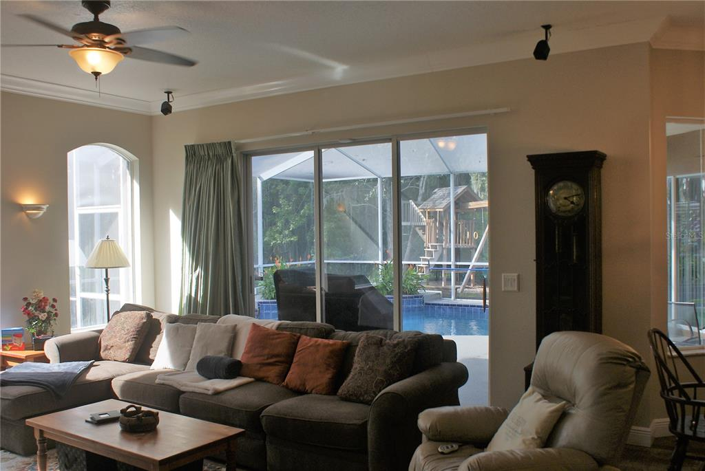 Family Room with Pool Views