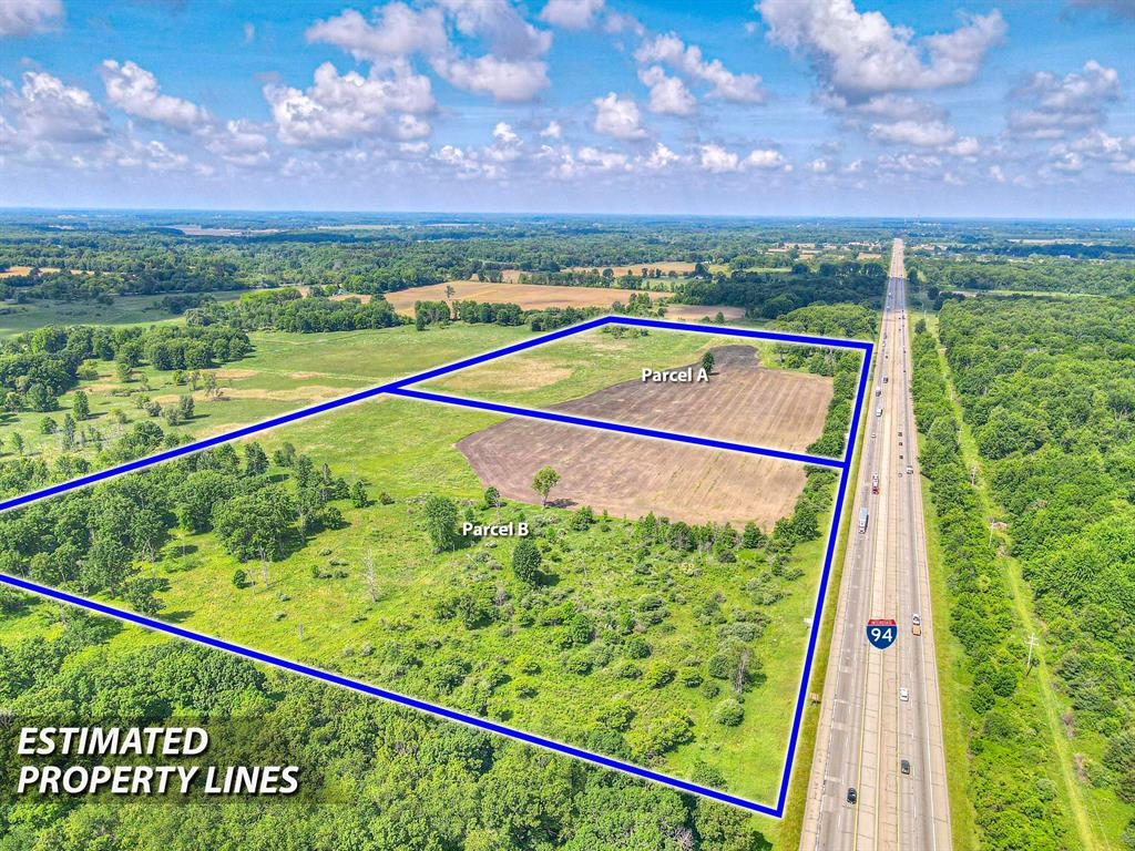 50- 230 ACRES OF I-94 HIGHWAY FRONTAGE with easy access off of Dearing road. The sky is the limit for this property... This is a Prime location for the next addition to the industrial park.3/4 mile from MACI and is conveniently located between Chicago and Detroit. If commercial/industrial is not your need, this could be your next hunting paradise as it has many deer blinds throughout the property. Also, there is many acres of tillable land for the farmers. Access from Dearing road to MACI and access from Harrington Rd. Aqua underwater lake on property, as well as, a trunk track Current use is Agricultural.