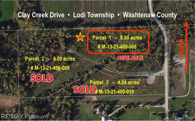 Absolutely beautiful 8.8 acre building site only 7 minutes to both downtown Ann Arbor and downtown Saline.  This pristine, rolling and wooded walkout building site offer gorgeous views, privacy, and wildlife.