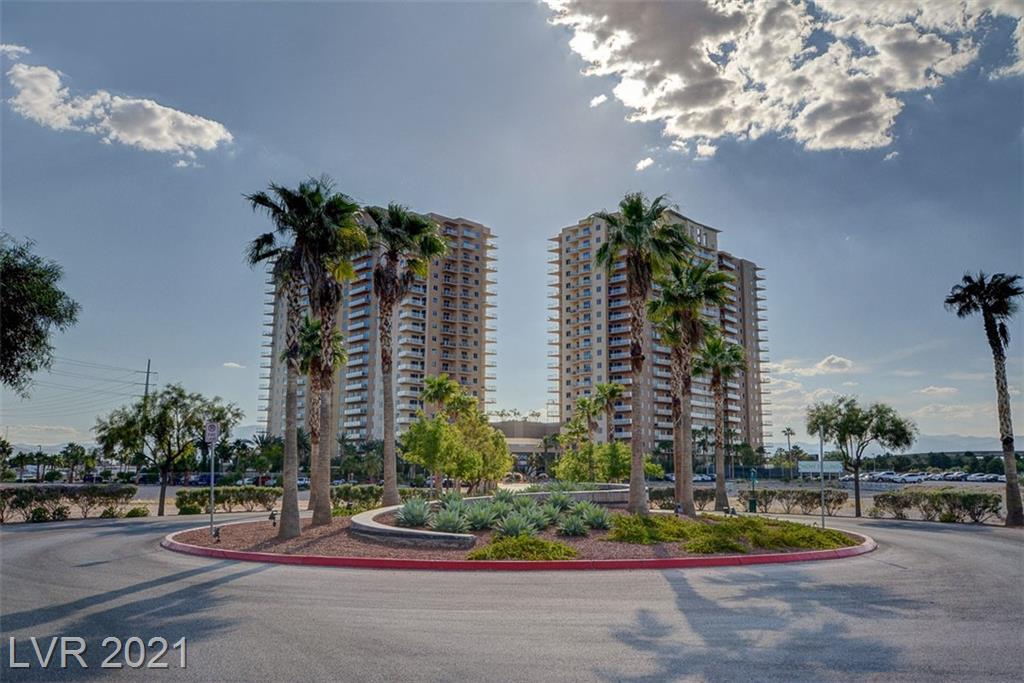 RARE Corner Unit at ONE Las Vegas! Located on the 7th floor. 2BR/2.5BA w/den on the south Strip boasts 10' ceilings w/ beautiful views, 2 balconies off Master Bedroom & Great Room, open floor plan, hardwood floors, tile, & carpet throughout. Large open kitchen w/ island, granite countertops & Stainless Steel appliances. Large master w/ 2 walk-in closets & ensuite bath & private balcony. Laundry room. 2 story fitness center, resort pool w/cabanas, controlled access, concierge. Minutes from world class entertainment, fine dining, shopping, Raiders Stadium and the list goes on! Seller offering $10k towards HOA or Upgraded to Kitchen.
