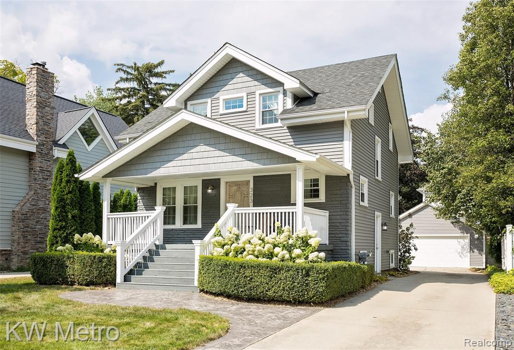 *HIGHEST AND BEST DUE 9/15 @ 9AM* Walk right into downtown Royal Oak! Stunning landscaping, stamped concrete walkways and patio, and a covered porch bring so much curb appeal to this home. Newer roof, windows, siding and driveway. Hard to find in town 2 car garage. Beautiful hardwood floors encompass whole first level. No detail was missed, including crown molding, all new light/plumbing fixtures and new interior and exterior doors throughout. Renovated kitchen includes new custom cabinets, granite counter tops, built-in Bosch dishwasher, built-in Thermador refrigerator, Viking gas stove, and a separate  breakfast nook. Both bathrooms completely updated, including a jetted tub, shower with 6 showerheads and digital thermostatic valve, and slate tile surround. Walk in closets in both bedrooms provide immense storage. Updated electrical, plumbing, high efficiency furnace, AC and tankless hot water. Truly move-in ready.