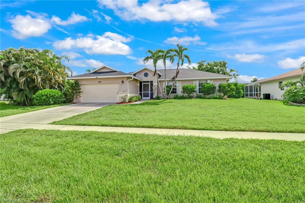 LOCATION - LOCATION, in the heart of Marco Island. This beauty is strategically located within walking distance to Tommie Barfield Elementary/ Charter Middle School  as well as Mackle Park, City Hall, fire department and the medical center. The beach is about a mile away and can be easily reached by foot or short bike ride. The house has 3 bedrooms, 2 bathrooms and a 2 car garage. The roof was replaced in 2018 and still under warranty. The beautiful flooring in the living room and bathrooms was installed 2 years ago. All windows have hurricane shutters and the new screened in lanai has a 1 piece panoramic screen allowing for the beautifully landscaped back yard to be seen in full view. The owners have a transferable Home Warranty prepaid and transferable for another 5 years (which is included in the sale). The beautiful kitchen granite countertops are complimented by a nice set of Samsung stainless steel appliances. Also the back yard has ample space for a future pool. This is a must see home.