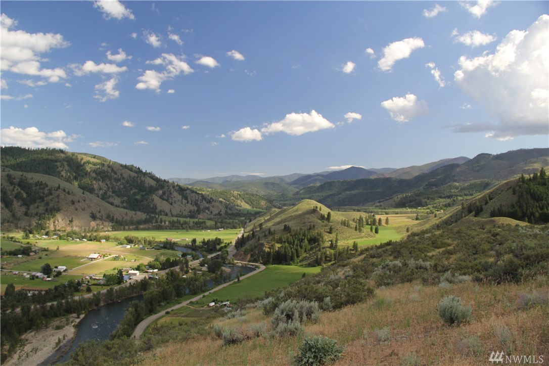 CARLTON Gorgeous views of the lower Methow Valley.  A panorama of mountains, green farm land, Methow River, and forest.  Follow the road to the homesite on 39.5 acres bordered by WDFW land.  Naturally landscape setting and a sanctuary for a variety of wildlife.