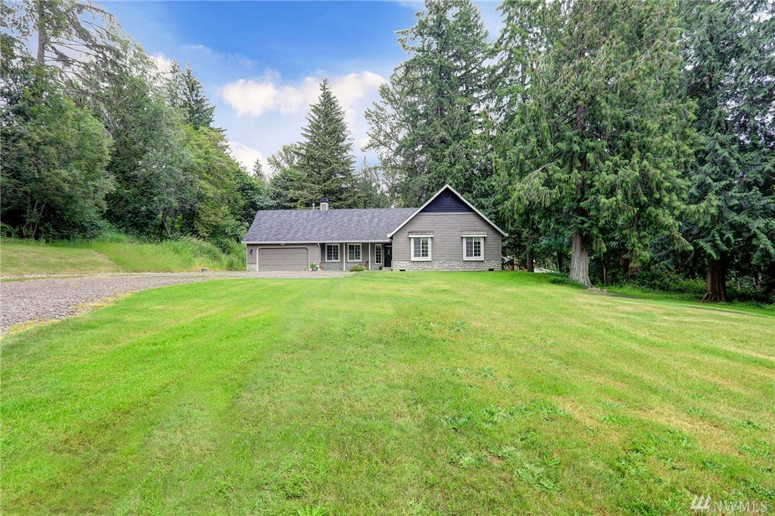 Lovely 3 bedroom 1 3/4 bath Redmond home on private and secluded beautiful 2.35 acres at the end of a dead end road.  An oasis of peace and quiet to restore and relax.  Appliances stay.   Gas stove, microwave, washer and dryer, gutters and hot water tank all have been replaced.  This home is move in ready!