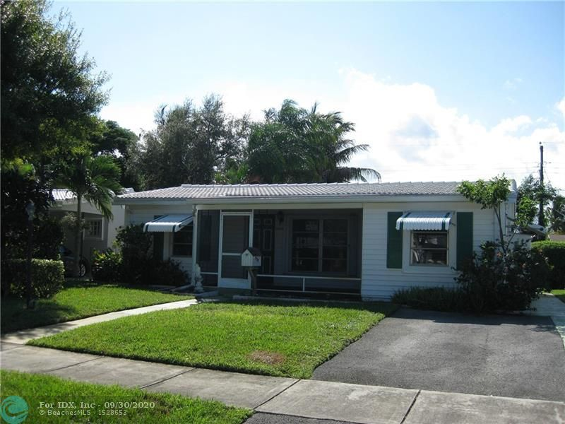A great opportunity to make this 3 Bedroom / 2 Bath home with charming curb appeal your own! This original owner home with great bones is ready for the buyer that wants to update to their own style & taste. A very well built Old Florida bungalow with terrazzo flooring, spacious Family / Florida room overlooking the backyard that of course has enough room for a pool if you so desire! Located in the quiet up & coming North Andrews Terrace community that is ideally located within a very short walking distance to all schools, shopping and convenient for commuters to main highway connectors. This home is the perfect starter home for a growing family or an investor that wants an investment to redo or keep as a long term rental.