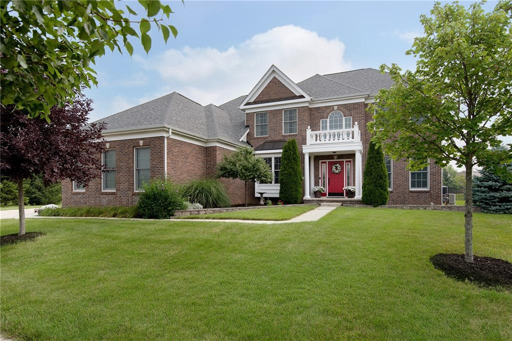 Come take a look at this Beautifully landscaped home in West Carmel! You'll love the open concept of the main level which features, floor to ceiling stone fireplace, granite countertops, and hardwoods throughout! The main floor also has a office, laundry room, and mud room with lockers. The home is freshly painted and has new carpet throughout. Upstairs has a huge master bedroom suite and 3 other large bedrooms!. Now head down to the ULTIMATE basement with full wet bar, game area, tv area, full bathroom, and you will absolutely love the completely sound proof theater! Fully fenced in yard, huge patio with custom fireplace! Tankless WH, 3yr old Roof, pool community! Great location with easy access to everything you'll want to do!