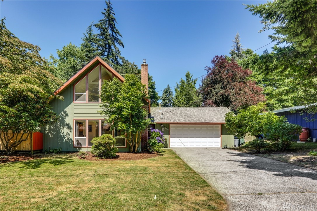This is a wonderful home in a quiet Lake Hills neighborhood. Loads of updates w/new(er) furnace, electrical panel, heat-pump (A/C), updated kitchen appliances & granite counters, updated bathroom & upstairs carpet all new(er). Downstairs wood floors refinished in 2018. Cozy up to the new gas fireplace or enjoy the large yard w garden, new shed & an awesome side-yard Trex-type deck off kitchen. You'll love this homes living environments. This is a very special home, in a really great location!