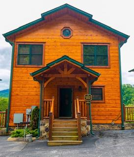 INVESTORS!! INCOME PRODUCING 3BR/3.5BA CABIN WITH THEATRE ROOM, GAMEROOM, AND BREATHTAKING VIEWS IN SOUGHT AFTER GATLINBURG FALLS RESORT. Built in 2017 and sleeps 10 currently on the rental program! Living room boasts beautiful stone stacked gas fireplace and LOTS of windows to enjoy all the natural light. Open floorplan with fully equipped kitchen w/ granite countertops and stainless appliances. Spacious Master Suite featuring a private bathroom and two bedrooms are on second level.  Downstairs relax in your very own action packed GAMEROOM & THEATER. Gameroom is equipped with a pool table, foosball, multi arcade, bunk beds, and more! Get away from it all, take in the views & fresh mountain air from the 2 covered porches overlooking the Great Smoky Mountains National Park!!!  Excellent documented rental history, with 2021 projected to be the best year yet at approx $80K!! Community amenities include an outdoor pool, nicely landscaped, paved roads, etc.  Offer deadline June 7th, 2021 at 12pm, and seller will respond by 5pm on June 7th. Please make offer response deadline by noon on Monday June 7th