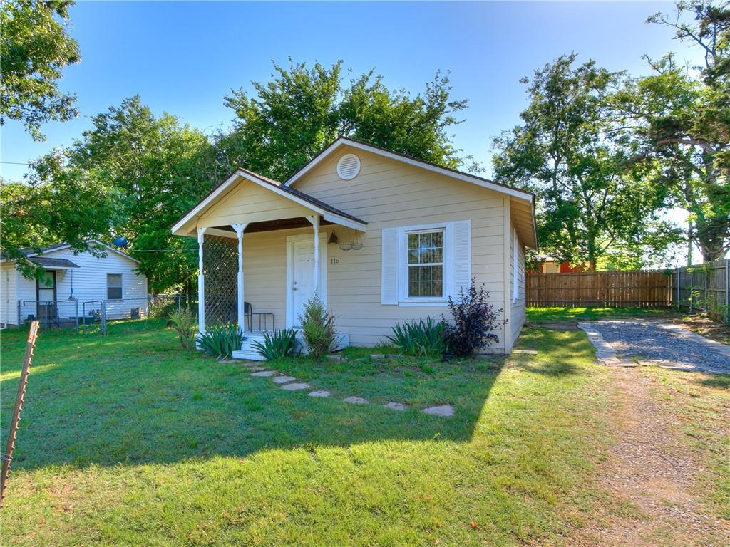 This cute, 1 bedroom, 1 bathroom cottage in the heart of Norman has been fully remodeled and has terrific access to Downtown Norman and the University of Oklahoma. Home was remodeled from top to bottom in 2015, and those updates include new plumbing and light fixtures, windows, roof, hot water tank, cabinets, countertops, toilet, and sinks. Other updates include brand new vinyl flooring installed in 2020 throughout the home, and a central HVAC system installed prior to the remodel. The kitchen features a gas stove, white painted cabinets, and a decorative backsplash above the counters. The covered front porch faces a large vacant lot owned by the city of Norman that makes a nice green park-like space. Home is just 4 blocks from all the entertainment and dining of Downtown Norman, and is just a mile and a half from OU's campus. Home has previously rented for $800 per month in its current condition. Washer and dryer to stay with acceptable offer. Seller prefers to close after June 28th.
