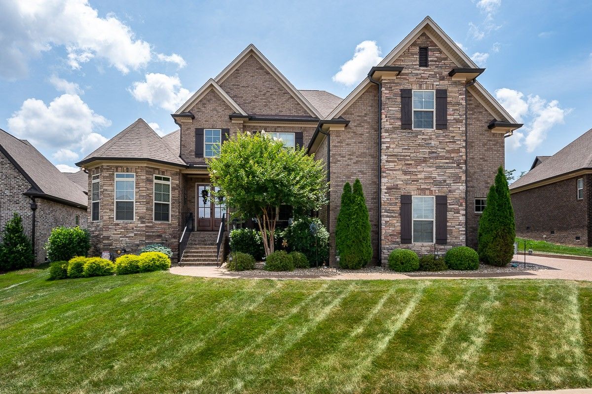 This beautiful custom-built home boasts two stunning covered porches, a fully fenced-in back yard, 3 fireplaces, granite countertops, soft close cabinets, 5 Bedrooms, 4 full bathrooms, a 3 Car Garage, and storage galore! Every bedroom is generously sized and has plenty of natural light! The custom eat-in kitchen is just incredible and features a double-sided fireplace.