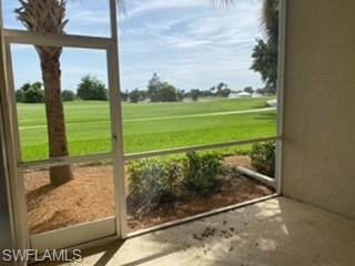 SUNSET AND GOLF COURSE VIEWS IN THIS FIRST FLOOR 2 BEDROOM/2 BATH CONDO WITH COVERED PARKING AND STORAGE..LIVE ON THE GOLF COURSE WITHOUT PAYING MEMBERSHIP, PUBLIC COURSE, PAY AS YOU GO WHEN YOU WANT TO PLAY. JUST 15 MINUTES TO THE BEACHES AND TO THE AIRPORT!  NEW LAMINATE FLOORING IN LIVING AND MASTER, NEW AC, APPLIANCES ARE 6 MONTHS OLD... SLIDING DOORS TO WEST FACING LANAI AND SLIDERS FROM MASTER BEDROOM TO LANAI IMPACT GLASS.  UPDATED GRANITE COUNTERTOPS IN KITCHEN AND BATHROOM. MASTER HAS SHOWER AND GUEST BATHROOM HAS COMBINED TUB/SHOWER. SPLIT FLOORPLAN. MASTER OVERLOOKS GOLF COURE. STAINLESS APPLIANCES IN KITCHEN, IN KITCHEN DINING PLUS COUNTER TOP FOR BAR STOOLS . ENJOY KITCHEN AND GREAT ROOM VIEW OF THE GOLF COURSE TOO! GREAT ROOM FLOOR PLAN.  GREAT SEASONAL CONDO, FULL TIME OR INVESTMENT PROPERTY.  LOW HOAS AND CONVENIENT TO EVERYTHING. COMMUNITY AMENITIES INCLUDE GUARDS AT GATES, COMMUNITY CLUB HOUSE AND CARD ROOM, COMMUNITY KITCHEN, COMMUNITY POOL, HOT TUB, PLAY GROUND, VOLLEYBALL, PICKLEBALL, TENNIS , BASKETBALL, INLINE ROLLER PARK, BASEBALL FIELDS, SIDEWALKS AND WALKING PATHS.