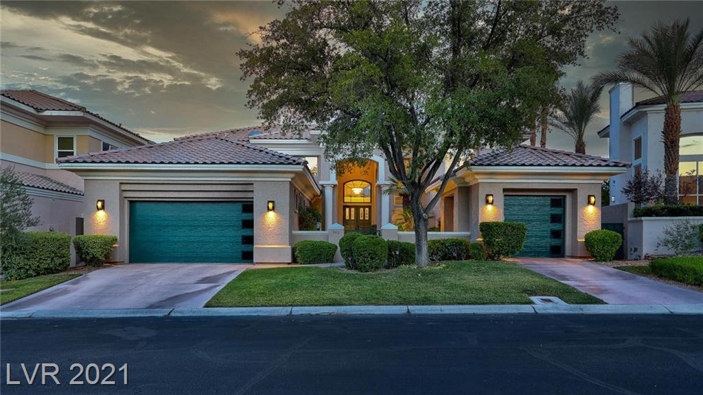 Gorgeous estate in the prestigious guard gated community of Country Club Hills. This home sits perfectly along the 11th fairway of the private TPC Summerlin Country Club. Recently renovated to include kitchen & all bathrooms remodeled, high end light fixtures,state of the art whole home security system, massive first floor bedroom with beautiful pool & golf course views perfect for in laws or guests, large office with built in bookcases, smart home features include Nest thermostats, electronic locks & automated lighting, extensive landscape lighting, custom garage doors, and a built in BBQ featuring Lynx Professional appliances. This home is perfect for entertaining and you will love sitting outdoors in the huge backyard which features a gorgeous salt water pool/spa with a fire feature & waterfall. Or choose to sit on your large balcony with incredible golf course & mountain views. If you are looking for acustom home in one of the best locations in Las Vegas, you've found it.
