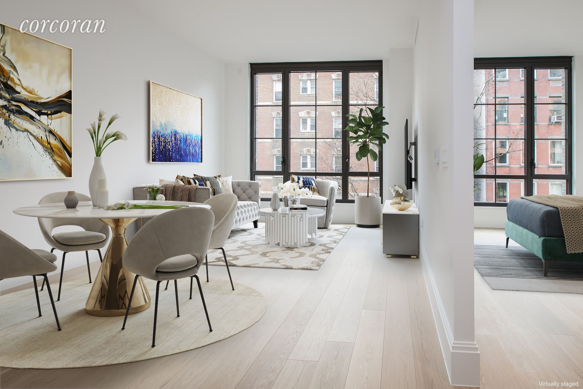 "Video tour: https://youtu.be/tRlE4xak4DEBeautiful Sunny 1BR with Southern Exposure, 10'7"" High Ceiling combined with Floor to Ceiling windows brings in tons of light and lovely East Village street view. Designed by famous designer Paris Forino, this luxury apt comes with Top of the Line Appliance including a Wine cooler, beautiful Hardwood floor and used a lot of marble with great design and details, also has a very practical layout. Steiner is the newest building in East Village which comes with over 16,000 SF of Amazing amenities which includes 24 hr Concierge, Library, Gym, 50 ft Pool overlooking the Courtyard, Sauna and Steam room, Playroom, Courtyard next to the pool and Rooftop Garden with BBQ Grill. Convenient location with easy access to transportation, supermarket and restaurants  in the neighborhood. This is a great opportunity to own your new home in this amazing building.Please note that photos were taken before tenant moved in, currently has tenant in place so need advanced notice."