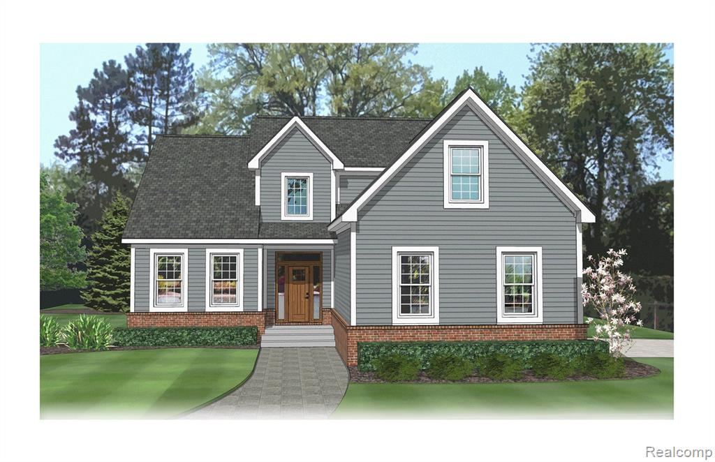 ***New construction to be built.*** Lakefront, 3 bedroom, 2.5 bath with a daylight basement and 3 car side entry garage. 2 acre lot. Just up the road from downtown Fenton. 2,021sf of living space. Open concept kitchen with stainless steel GE Appliances and breakfast nook. Vaulted great room with large windows-lots of natural light. First Floor Master Suite has a large walk-in closet, spacious ensuite bath with ceramic flooring, dual vanity, soaking tub and shower. 2 additional bedrooms on and a full bath on the second level. Mudroom/laundry conveniently located off the garage entry. Basement features 9' poured concrete walls and waterproofing with a 10 year warranty. Current tax rate based on land value only. Buyer to meet with builder to choose flooring, cabinet colors, counters & any additional features wanted.