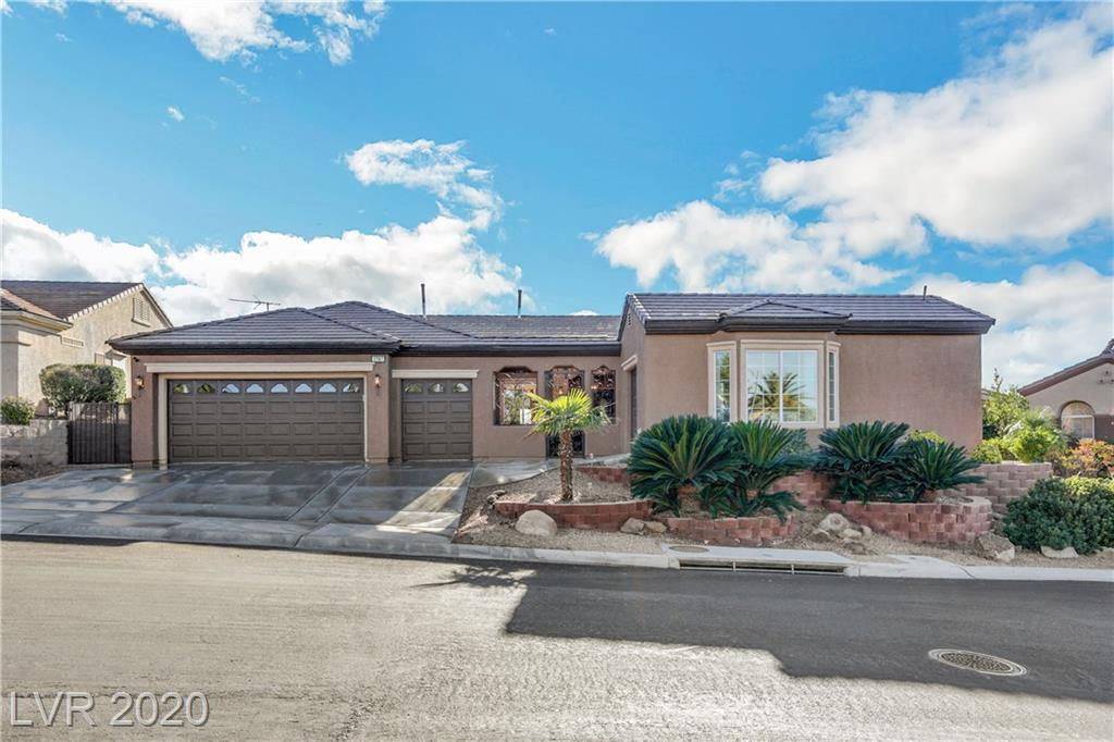 This stunning, elevated, golf course & mountain view Arlington model w/multi-use Casita is a gorgeous find. Offering 3BD + 2.5BA, (2337 sq. ft) in the main home, plus a 1BD + 1BA (343 sq. ft) custom Casita. Everything inside & out has been meticulously maintained, upgraded & is in move-in ready condition. Situated on a quiet, interior street w/great curb appeal, w/expansive backyard views in every direction. Interior features include travertine tile flooring, neutral paint, $20k in custom windows, formal living area, large kitchen w/newer SS appliances & extra cabinets, large great room & adjoining dining area, fireplace, built-in shelving, office area, spacious bedrooms, large master suite w/rear patio slider. Exterior features include secured front courtyard, stamped decking, custom patio cover across entire rear of house, built-in BBQ center, easy-care landscaping, fenced & gated on all sides, fresh paint, great privacy & endless views, plus 3 new AC systems. A must-see property!