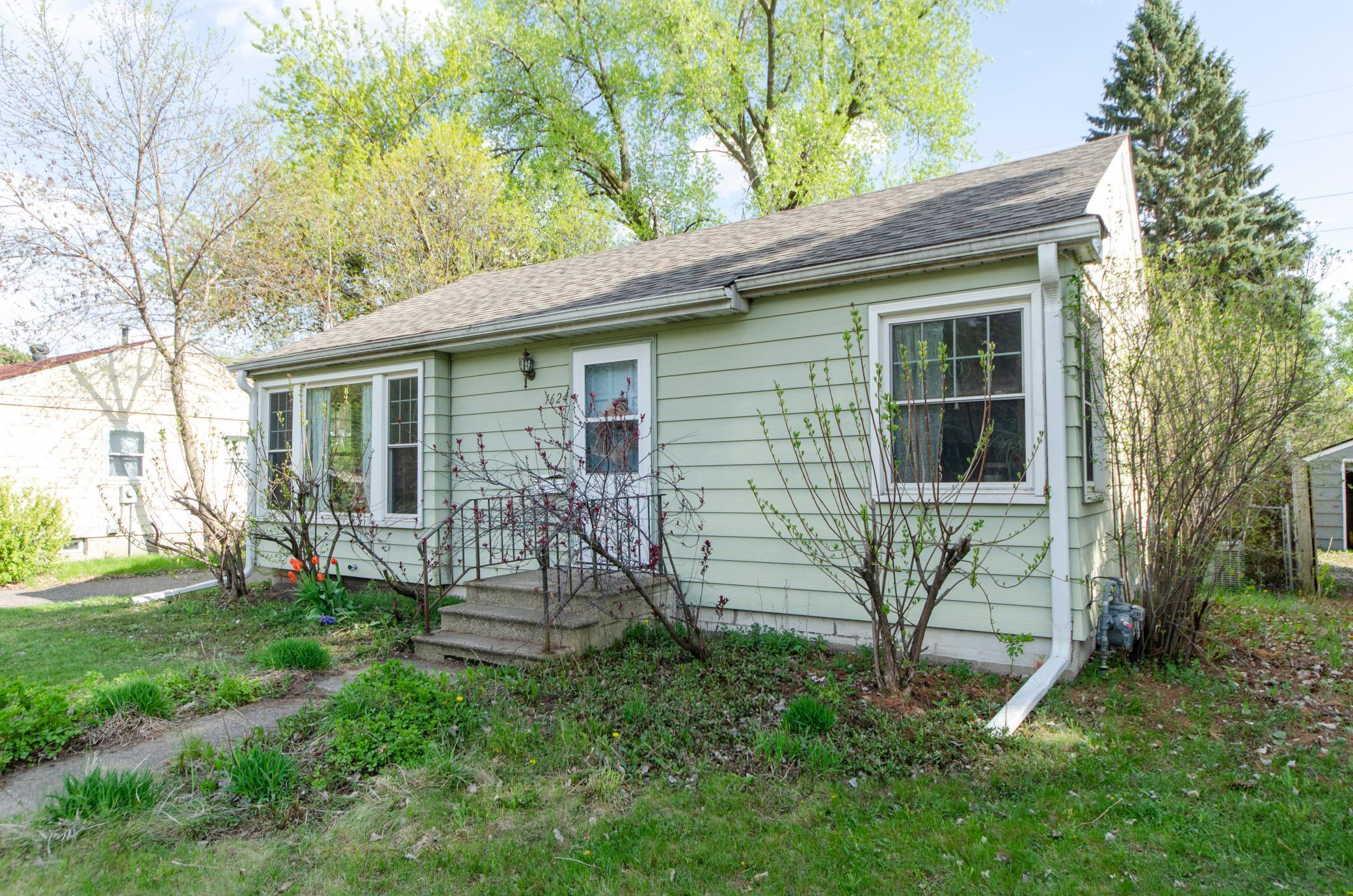Enjoy this cute 1950's rambler in the Waite Park neighborhood of Northeast Minneapolis! It has charm, warmth, and great vibes! Updates include: Roof (2020), Duct Work/Central Air (2020), All plumbing updated (2018), Sump pump/Drain tile system (2020), Backsplash (2021), plus more! The basement is ready to be finished, and you can double the size of the home! Easily put another bed, bath, and family room and gain instant equity. Enjoy the backyard by the fire and the beautiful trees. It's very private and the lot is measure at .19 acres - come take a look!