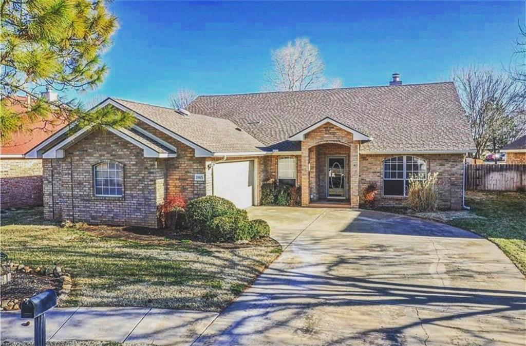 Beautiful, well-maintained home in the award winning Deer Creek school district. As soon as you walk in, you will fall in love with the tall ceilings, beautiful wood floors and double sided fireplace. You'll have plenty of room for entertaining with the two living areas, a formal dining and a separate breakfast nook. The kitchen is a chefs dream with an over-sized island, complete with new quartz counter-tops and stainless steel appliances. Escape from the day into your over-sized master bedroom with a luxurious en-suite that has been completely remodeled with corner soaker tub and separate shower. You'll never run out of hot water with the tank-less water heater, so soak as long as you'd like. The other three bedrooms are all good sized and have larger closets. Finish your night outside on the massive patio with a warm fire and a glass of wine. Includes tv hookup to enjoy your favorite shows. Come find out why Settler's Crossing is one of North Edmond's best