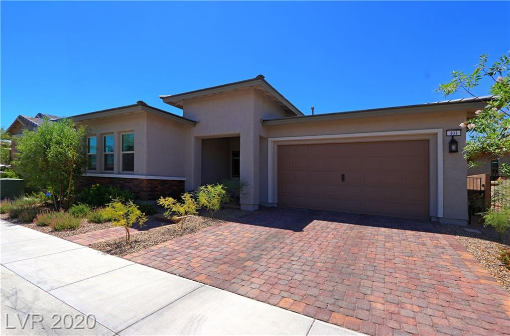 PRISTINE HENDERSON PROPERTY WITH EXTENSIVE UPGRADES! OPEN FLOOR PLAN, VOLUME CEILINGS THROUGHOUT, GRANITE KITCHEN COUNTERS, STAINLESS STEEL APPLIANCES, LARGE SINGLE BASIN STAINLESS SINK WITH CUSTOM FAUCET, PLENTY OF CABINET SPACE, LARGE PANTRY, DECORATIVE FLOORING AND LIGHTING FIXTURES, SPACIOUS LIVING ROOM/DINING ROOM COMBINATION, ADDTIONAL OFFICE, DEN OR STUDY, EXTENSIVE MASTER BEDROOM WITH WALK-IN CLOSET, DOUBLE SINKS, MAKE-UP TABLE, AND OVERSIZE SHOWER IN MASTER BATH, SIZABLE LAUNDRY ROOM WITH SINK AND CABINETS, CUSTOM BLINDS, BRUSHLESS CEILING FANS, COVERED PATIO WITH FAN, LOW MAINTENANCE DESERT LANDSCAPING, TRULY A MOVE-IN CONDITION HOME!