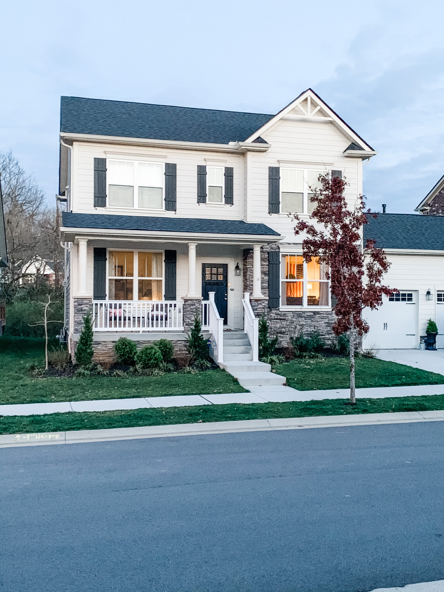 Like new home built by Jones in 2019. Lovely 3 bedroom/2.5 bath with an office, dining room, eat in kitchen and open floorplan. Private treed backyard. Neutral color palate and an easy to move into home. You will fall in love with this one!