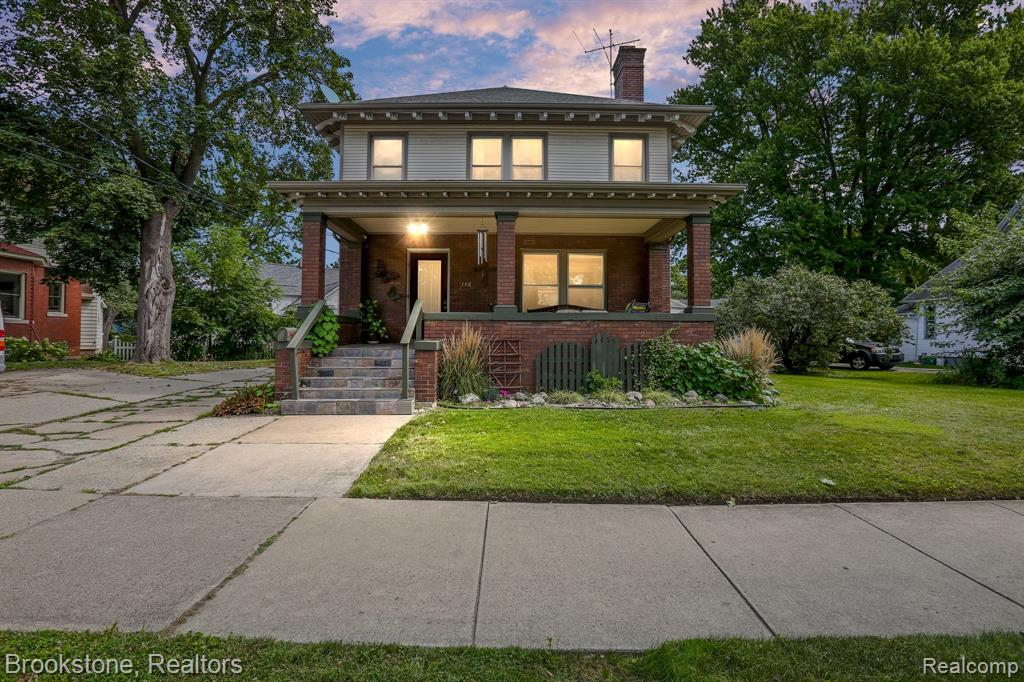 Come check out this astounding colonial in the heart of Mt Clemens! Where old world charm meets modern amenities! Located a stone throw away from downtown Mt Clemens, you are near many local favorite bars, restaurants and attractions! You'll first notice the slate covered porch and exposed rafter tails giving this home unforgettable character. Step inside and you are immediately mesmerized by the unique 9' coffered ceilings, wood trim, and bamboo hardwood flooring throughout. Copious amount natural light flows through the kitchen to highlight all the beautiful updates and upgrades including the fixtures, granite countertops, stainless steel appliances, etc. The master bedroom features a bonus room which could be used for a walk in closet or den. There is an upper balcony off of the back deck to enjoy your morning coffee! Finished basement great for living or entertaining space! This home includes an abundance of updates! You will just have to see it for yourself!