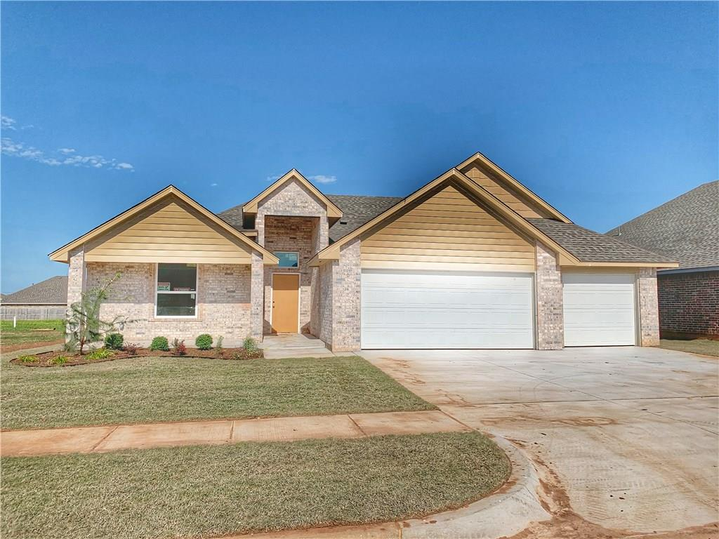 Located in the Deer Creek school district, just 1.5 miles north of the Kilpatrick Turnpike. Enjoy a friendly community with neighborhood pool, cabana, playground, walking trails and b-ball court, all in the up and coming Deer Creek Park. This home features a well laid out floor plan with three full bedrooms, and two full baths. An open concept in the main area will allow you to entertain guests or enjoy family evenings at home. Kitchen offers designer tile backsplash, breakfast bar with seating and stainless steel appliances. A corner gas fireplace serves as the focal point of the spacious living room. Stylish selections and upgrades include wood look tile in the main rooms, an upgraded security system and more. The master suite is over-sized with a dual sink vanity, separate tub and walk-in shower, and fabulous closet space! Spacious covered patio in back to enjoy the outdoors. Welcome Home!