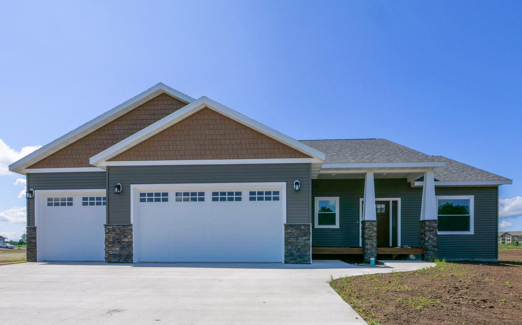 Brand new construction in the desirable Burgen Sunrise neighborhood. This stunning rambler boasts 5 bedrooms, 3 bathrooms and 2,500+ finished square feet! The main floor is an open concept with an easy flow throughout. The lower level has a spacious family room, two bedrooms and a full bathroom. The grand owner's suite has a spacious closet and a stunning en suite bathroom. The main living area draws attention with its beautiful windows that bring in the sunsets inside the entire space. You will not want to miss this beautiful home.