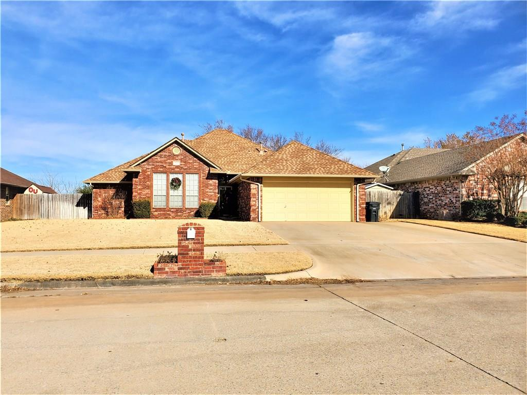 Wonderful 4 bedroom home in Moore Schools. Open and light living dining kitchen. Extra large extended patio. Nicely landscaped. Storm cellar in garage that is oversized and fits 9-11 people. Extra pad for parking. Well maintained great home in sought after neighborhood.