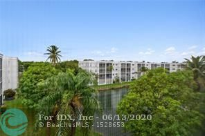 Beautiful unit in great location, minutes from the beach & the Dania Beach Casino. Screened balcony overlooking lake. Ceramic tile floors throughout. Interior features Updated kitchen with stainless steel appliances. Master bath has been upgraded.  The unit is bright and has been freshly painted Just move in!!!. Complex amenities include use of gym, sauna, heated pool, clubhouse, library, gameroom, and an assigned parking space.  This is a 55 and older building. No pets.