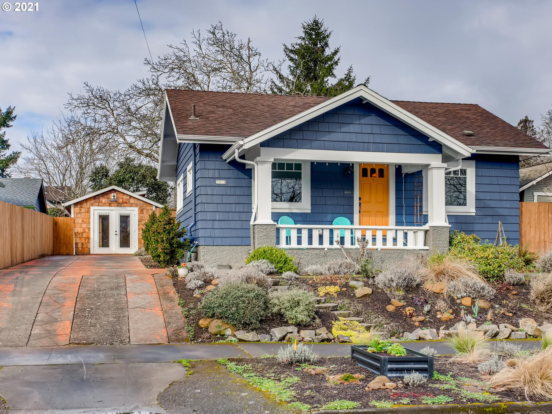 Enchanting Roseway Bungalow is a true GEM...EVERY surface has been touched & many systems updated.All new wiring + elec. panel,New plumbing,Radon,Roof(2012)DEQ cert oil tank,Radon Sys.Sunny & adorable w/great layout & timeless finishes. Addt'l 216 sqft in garage studio space:WFHoffic,gym,or?West-facing backyard.Perennials galore,Dogwood,Japanese Maple,berries,& fruit trees.Walkable to fun Sandy attractions,Glenhaven,& along the Rose City golf course.On a bike greenway!Fully insulated:HES 6/10. [Home Energy Score = 6. HES Report at https://rpt.greenbuildingregistry.com/hes/OR10188930]
