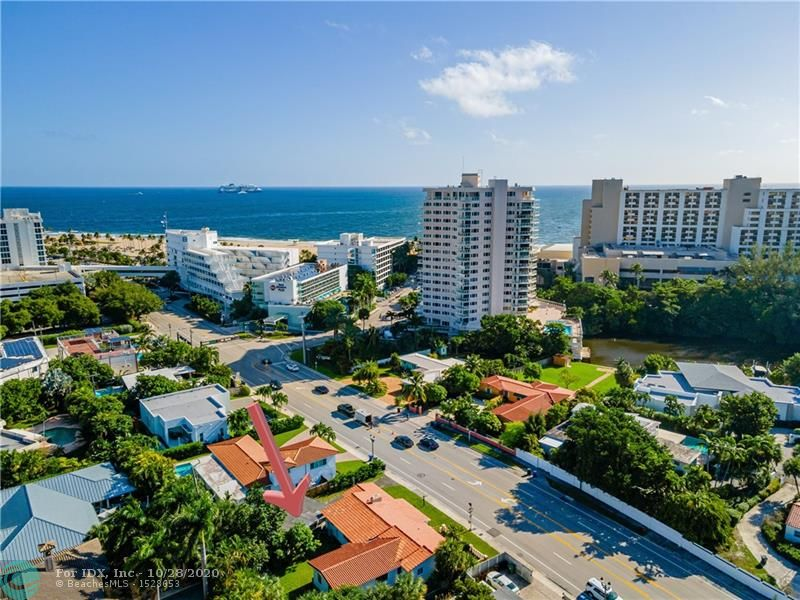 Don't wait to get into the prestigious Harbor Beach neighborhood. Act NOW before it's too late. So close to the beach -you can smell the Seabreeze! The new Bahia Mar $400 million re-development is just one example of what's to come, just steps away … from literally bringing the value up. This location is iconic for its access to the Harbor Beach Surf Club, Private MARINA (upon availability), Pier 66, airport, shops, restaurants, parks, Las Olas & downtown Fort Lauderdale. Under 350 lots in the area. This is one of the few remaining original properties in the area, with over 10,000sqft of land and 2,700 sqft under roof. You can either come make it your own or, THINK BIG and re-develop! Lowest priced property in the area by the beach. Investors... don't let this one get away!!