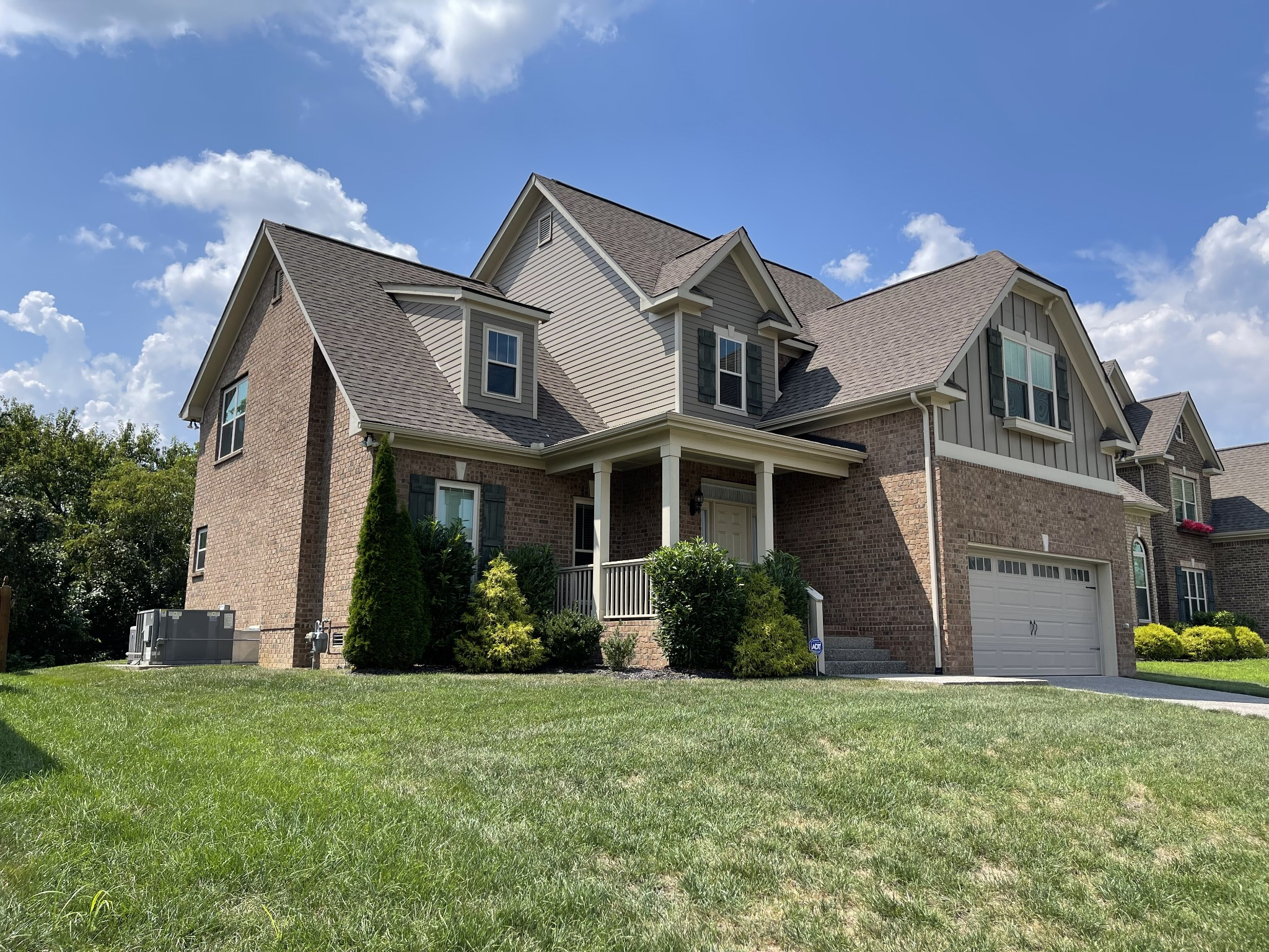 Beautiful all brick home in Wades Grove, boasts open floor plan with lots of custom finishes by John Maher homes. White cabinets, hardwood floors, floor to ceiling stone fireplace. Home was built in 2016 - brand new carpet installed. This home backs to trees and has a flat back yard, previous homeowner had a retention wall and fill dirt for a usable back yard. Professional photos coming soon. Offers due by Sunday 8:00 pm - Seller to make a decision by Monday evening.