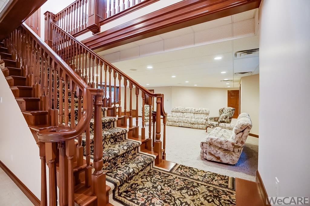 Grand Staircase to Lower Level Living Area