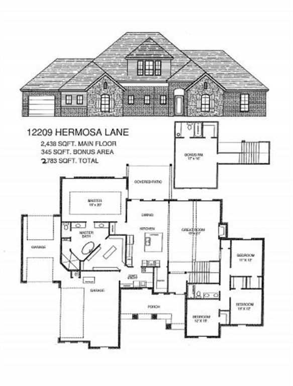 This gorgeous NEW HOME will be the same floor plan as the new Rio Del Sol Model Home at 7201 SW 120th. It is at frame stage as of list date (11/26/19), so you can make ALL of the selections (brick, stone, granite, cabinets, flooring, tile, paint and trim colors, etc). Make this home YOURS! Amazing OPEN floor plan with 4 bedrooms and 2 full baths downstairs, and a huge BONUS room with a closet and a full bath upstairs.  It could even be a private SECOND MASTER suite. Check out the master closet and master bath downstairs. WOW! Huge covered front porch and covered back patio. The great room and dining area have so many windows and let in so much natural light. This one has a walk-in pantry with a window. The craft/utility room has a sink, mud bench, and window. This home will have a full 6' privacy fence with steel posts & 4 zone sprinkler system. The builder pays closing costs (except prepaids) when using preferred lender. Rio Del Sol is shop building approved.