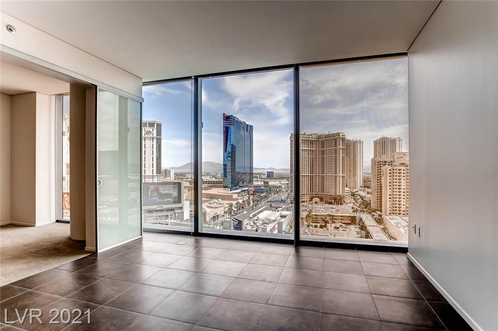 located at the heart of the Las Vegas strip. Beautiful suite with Europian Bosch appliances. Fully  furnished. Veer Towers features rooftop pool and hot tub, BBQ, Gym. On site hoa management, valet parking, secured entry and elevators. Tram ride to Bellagio. Gaming, dining night life and entertainment at Aria Resort. Shop at Crystals. Just steps from T-mobile arena.