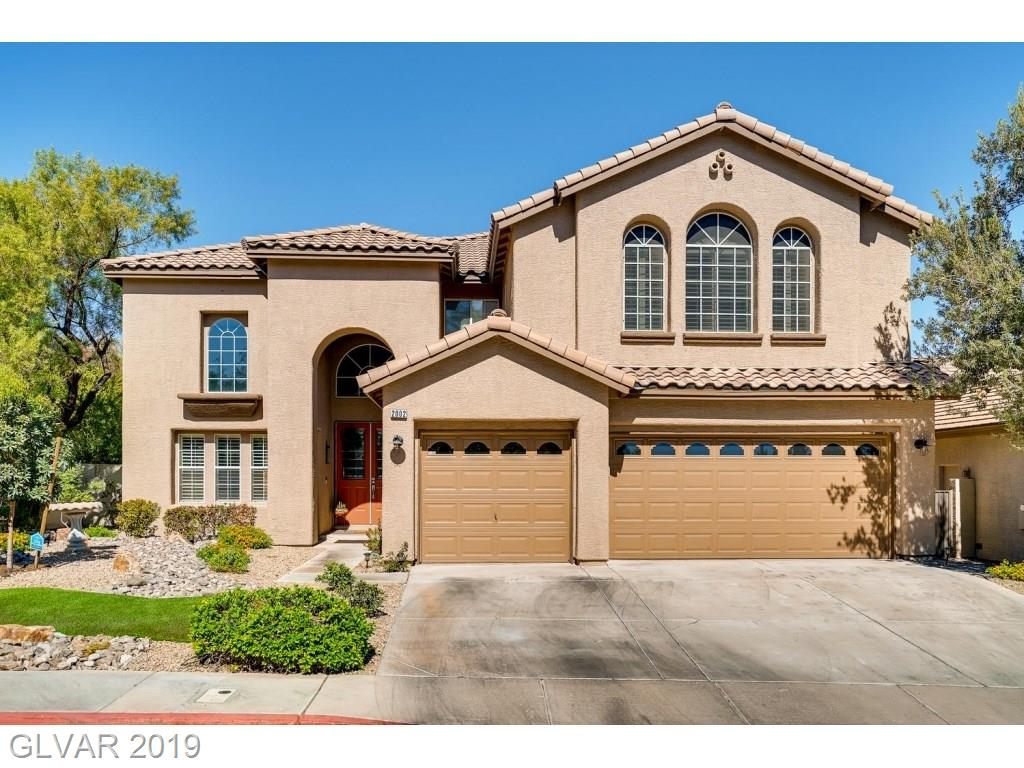 WOW! Completely updated. Move in ready home located in sought after Green Valley Ranch gated community. The double door entrance takes you into the 20 foot vaulted ceiling entryway where you find updates abound. From flooring, shutters, fresh paint, modern bathrooms and kitchen inside this cul-de-sac home to the outside master balcony. Mountain views and entertainment ready backyard. Excellent schools.