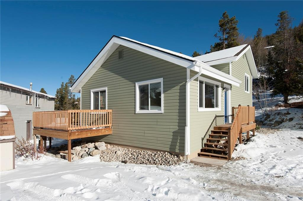 Here is your opportunity to own a completely remodeled 4-bed, 2-bath single-family residence with incredible views of the ski area. Ideal location being in the Valdora subdivision which allows walkability to downtown Breckenridge. Ride the free bus as the stop is right out your back door. Seller went over the top with remodel. New siding, brand new windows with a new exterior door. Kitchen totally remodeled with stainless new appliances and granite countertops to name a few.