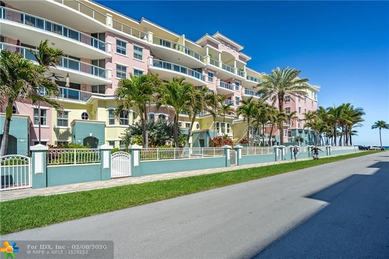 WOW!! Doesn't get better than this! Super Spacious, 3/2.5 right on the beach!! Steps to ocean,  great dining, pier, nightlife. Unit has amazing views from huge balcony & floor to ceiling impact windows. Ride your private elevator directly to your unit! Safety is the priority in this bldg. Gated garage parking under bldg with plenty of guest spaces, storage unit & 24/7 concierge.  Full amenity pkg, including pool, spa, gym, social room. Unit offers all SS appliances including wine cooler. Marble floors & designer input add to beachfront elegance. Ok to lease after 2 yrs & 2 pets allowed up to 20 lbs. each.   No homestead reflected in taxes.  Please call agent for showing appt.