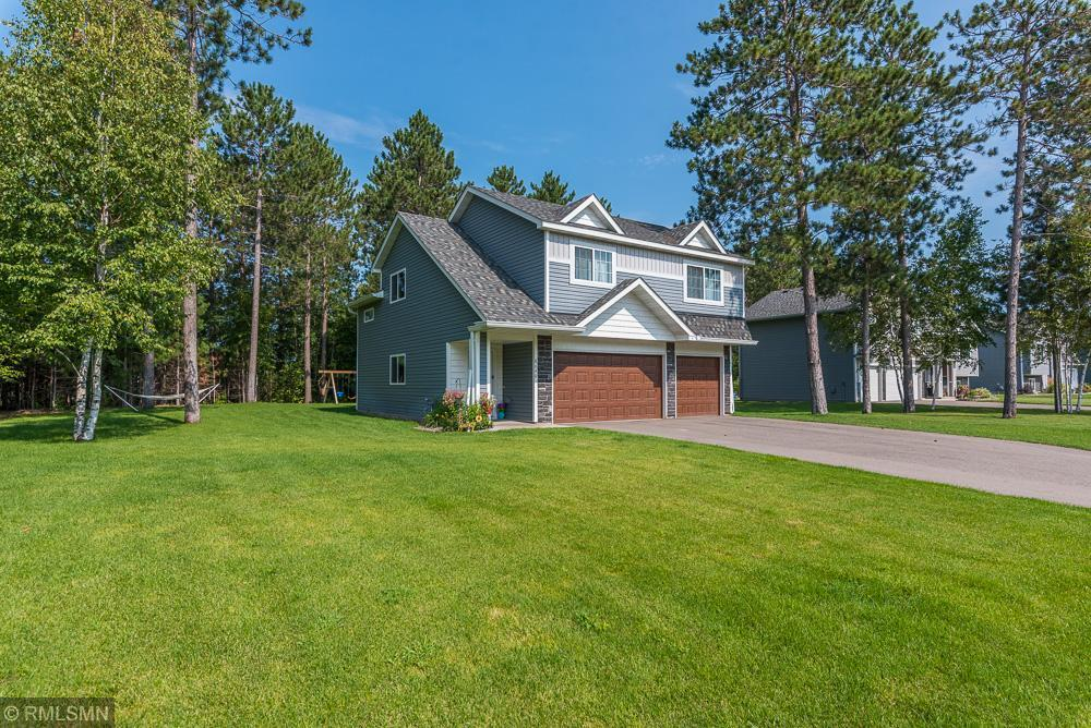 Multiple offers have been submitted. Best and Final offers are due by 5:00 PM 9/4/21.  Newer, well-built home in a great location. This 2018 built home offers the feel of a rural setting yet is close to all of the amenities Brainerd/Baxter has to offer. Custom cabinets, stainless steel appliances, central air, a large deck overlooking a private backyard, six-panel doors, stone accents, and an oversized three-car insulated garage. The lower level is roughed in for a 3rd bathroom. The yard is sodded, landscaped, sprinkler system, and an asphalt driveway with concrete sidewalks.