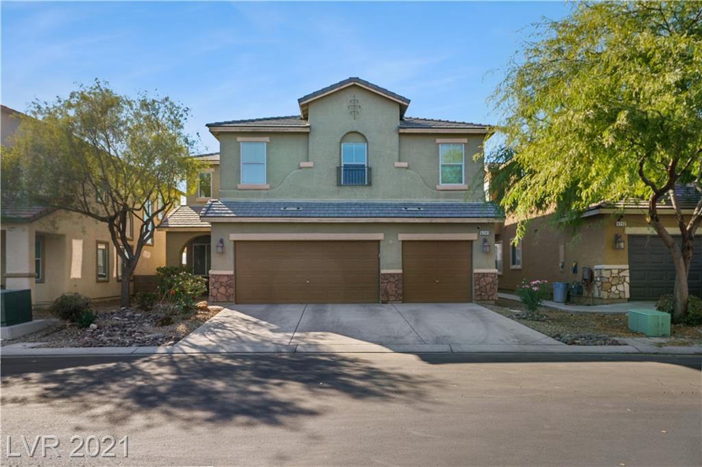 Beautiful and well kept home w/ 5 bed, 3 bath, large loft, 3 car garage, & pool all under $148 a sqft.  Walk-in to upgraded laminate flooring & vaulted formal living room, a formal dining room which leads to an open kitchen w/ granite countertops & large island w/ breakfast bar, & large and open family room w/ a large media niche, a large laundry room which has shelving doubling as a walk-in pantry for kitchen, & downstairs bed and full bath.  Upstairs features an oversized primary bedroom w/ fireplace, a retreat, 2 separate walk-in closets, & primary bath w/ separate shower & tub.  Upstairs also features a large loft complete w/ custom built-in cabinets, 3 bedrooms separate from primary bedroom, and bath which features dual sinks & shower/tub.  Outside features a solar heated pool (Acid washed August 2021) with water fall and pre-drilled holes to add fencing if desired, paverstone patio throughout backyard, and a covered patio.  Garage has storage shelving, work bench, apoxy floors.