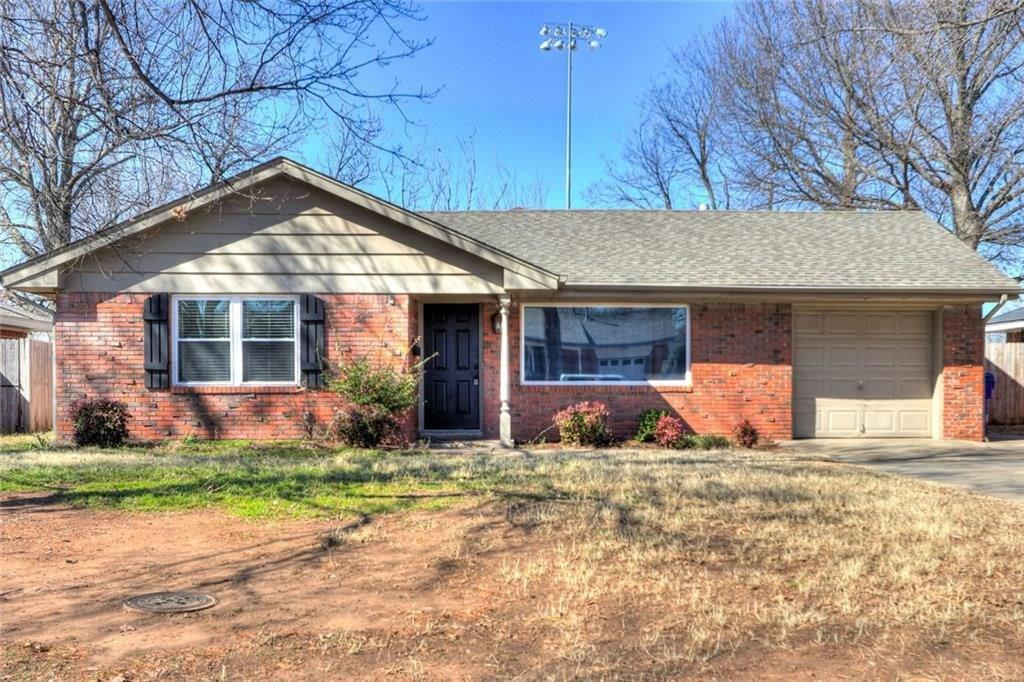 Great 3 bedroom home located just 1.5 miles from OU campus! Wood floors, one car garage, storm cellar, and move in ready!$1000/month, $250 off of deposit if they sign and move in by the end of August.