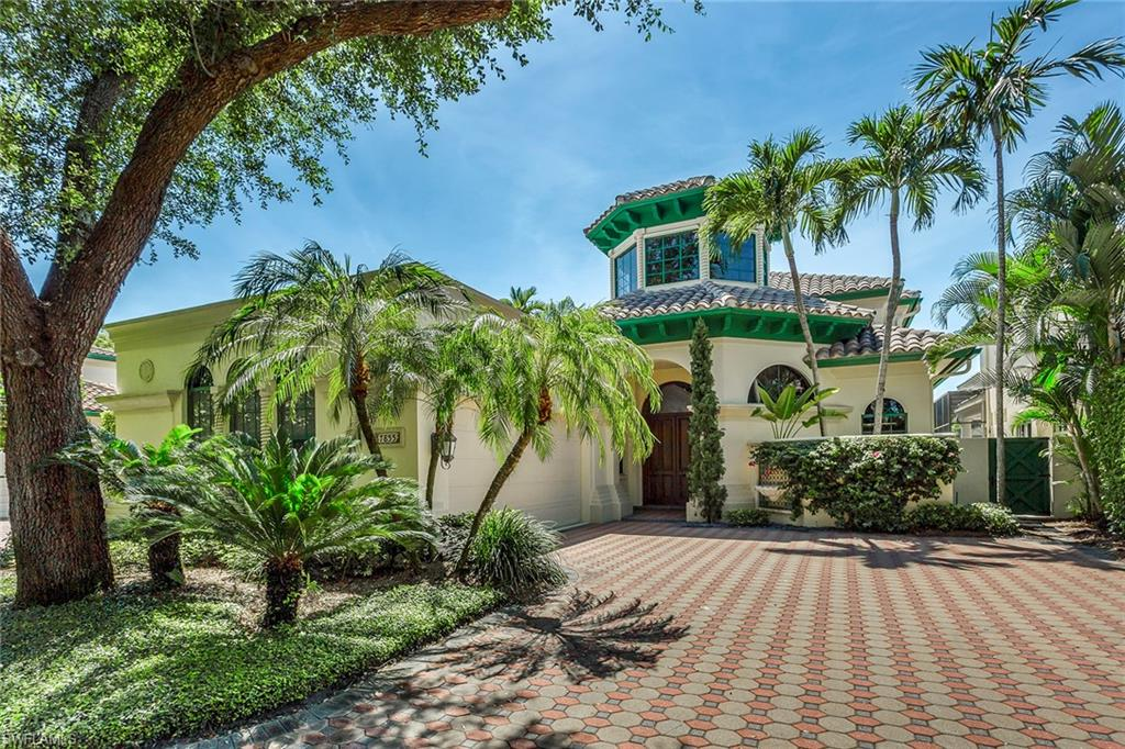 This Vizcaya villa is perfectly situated on a beautiful lake with incredible views, soft breezes and the utmost in privacy within the lush community of Bay Colony. With over 3,400 square feet of interior living, this charming 2-story residence features 3 en-suite bedrooms, one half bath, a library area, soaring ceilings and magnificent arched windows. The first level is complete with marble floors, a gourmet kitchen, wet bar, master en-suite, guest en-suite and living area which flows out to a large screened lanai with pool and spa. The second level features a library/den area and a guest en-suite with a private balcony. The 2-car air-conditioned garage is well designed with custom storage closets. The enclave of Vizcaya offers the best of both worlds; the ease of concierge living in a single-family home. Bay Colony is an exclusive gated community within Pelican Bay offering a luxury lifestyle, private beach access, 6 tennis courts, a fitness center, and beach clubs with restaurants situated on the beautiful Naples beachfront. Bay Colony residents enjoy a private Bay Colony beach club with full beach service including private dining for members and their guests.