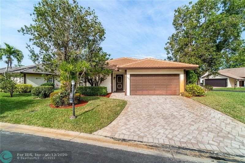 ON SUPRA. PROPERTY IS CURRENTLY IN PROBATE. IF SUBMITTING AN OFFER, CLOSING DATE WILL BE 30 DAYS AFTER CLEARING PROBATE.You will be visually impressed as soon as you enter this well manicured Ramblewood Villas community. Located on a corner lot in the heart of Coral Springs, this lovely 2 bedroom, 2 bath home features a 2017 barrel tile roof and accordian shutters. The interior's kitchen has granite countertops, beautiful white cabinetry, and matching Kenmore appliances. The master bedroom features an updated master bath. The screened in patio allows you to enjoy Florida's fine weather. This all age community is pet friendly(up to 40 lbs.) and has a low monthy HOA of $130/month that covers lawn maintenance, the common grounds maintenance and the community pool.