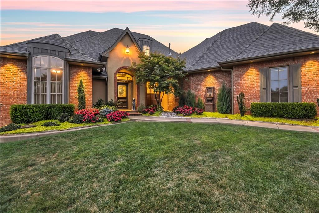 Located in one of the most sought after gated communities Edmond has to offer, Woody Creek boasts immaculate landscaping surrounded by large mature trees from the moment you enter the neighborhood. Conveniently located for an active lifestyle, less than 1 mile to I-35, close to medical facilities, golf / health clubs, and restaurants / shopping. Upon walking through the front door, you're immediately drawn to the large windows offering ample natural light and looking out to the swimming pool with refreshing waterfall features. The spacious open floor plan is an entertainer's paradise with updated kitchen offering new leathered granite countertops, new subway tile backsplash, new gas stove top, and oversized sink. 2 large additional bedrooms upstairs as well as bonus room. Recent updates include:New roof & gutters (11/20), 2 new water heaters (09/21), custom fireplace logs and screen, and much much more! Boasting meticulous design and care, this home is truly one you don't want to miss!