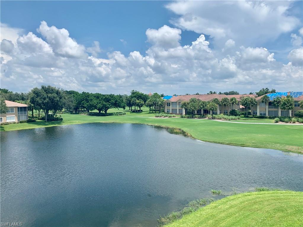 The Best Top Floor Corner Unit with Panoramic Lake and 18th Hole Views. Tastefully Renovated that includes Kitchen , Appliances , Quarts Counters Tops , Electric Roll Down Shutters , Rear Lanai Glass Enclosed  For Office or 4th Bedroom. Large 2 plus Car Garage. Les Chateaux Has New Roofs and Pavers . This Unit is Worth It!